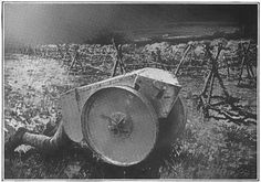 WW1 one-man tank used to move wire-cutters close to enemy lines.