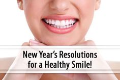 Most New Year's resolutions involve improving health and /or appearance, such as vowing to exercise, lose weight or eat healthier foods. How about resolutions for a healthy smile! Click the link below to find out more! #dentist #smilemakeover