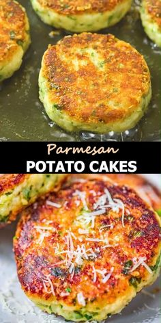 These Parmesan Mashed Potato Cakes are so addictive! A crunchy, cheesy crust is hiding the soft, velvety mashed potato filling. They make a perfect side dish or a filling vegetarian meal. FOLLOW Cooktoria for more deliciousness! #potatoes #lunch #sidedish #vegetarian #breakfast #easyrecipe #recipeoftheday Cheap Vegetarian Meals, Vegetarian Recipes, Cooking Recipes, Vegetarian Lunch, Vegetarian Sandwiches, Going Vegetarian, Parmesan Mashed Potatoes, Mashed Potato Cakes, Side Dish Recipes