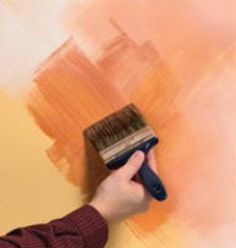 "Faux Painting: An example of applying <a href=""http://www.valsparpaint.com/en/how-to/interior/decorative-paints/color-washes.html"">old world fresco color washing</a> from <a href=""http://www.valsparpaint.com"">Valspar Paint</a>."