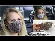 Easy Face Masks, Best Face Mask, Diy Face Mask, Homemade Face Masks, Small Sewing Projects, Sewing Hacks, Sewing Tutorials, Sewing Crafts, Make It Easy