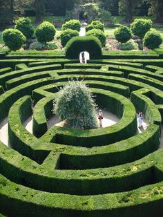 Hedge Maze at the Chatsworth House, North Derbyshire, England Chatsworth Estate, Chatsworth House, Landscape Design, Garden Design, Amazing Maze, Awesome, Labyrinth Maze, Formal Gardens, Exterior