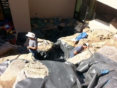 Some of the Bosque Natural Crew building a pond in Santa Fe, NM.