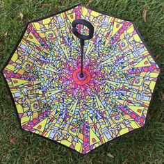 Cute Seamless Pattern With Doodle Colorful Reverse Umbrella Double Layer Inverted Umbrellas For Car Rain Outdoor With C-Shaped Handle Customized