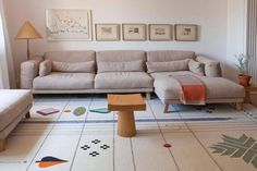 Design by Nipa Doshi + Jonathan Levien. Rabari 1 is a Hand knotted + Hand loomed rug in three diferent sizes. Scandinavia Design, Eclectic Living Room, Fabric Rug, Geometric Rug, Modern Fabric, Rugs On Carpet, Wool Rug, Hand Weaving, Branding Design