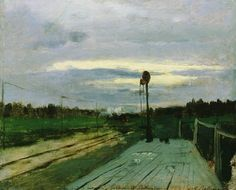 Isaac Levitan - the halt