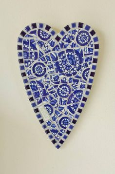 Morrocan Blue Mosaic Heart