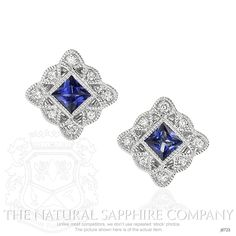 0.94ct Blue Sapphire Earring Image