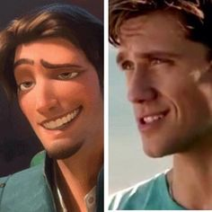 did the real life disney prince finally get animated?? <3