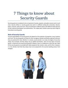 7 Things to know about #Security_Guards #security_guards_West_Palm_Beach