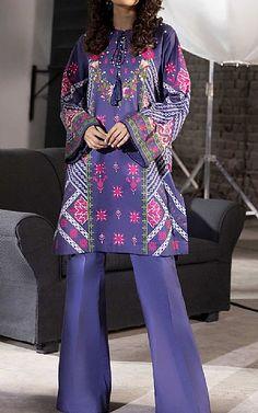 Lawn Suits, Cotton Suit, Famous Brands, Sapphire, Kimono Top, Navy Blue, Clothes, Tops, Women