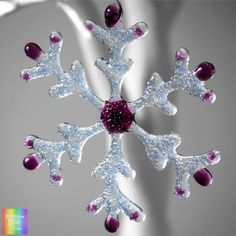 Sparkly Winter Snowflake Textured Fused Glass. Frosty and Pretty Choice of colours by Rainbow Lux Glass