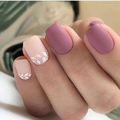 96 Lovely Spring Square Nail Art Ideas - Köröm minták - Beauty World Colorful Nail Designs, Acrylic Nail Designs, Nail Art Designs, Cute Acrylic Nails, Nails Design, White Nail Art, White Nails, Mauve Nails, Pink Nail