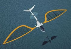 Sailing aircraft raises its wings to offer a luxury sail on the waves