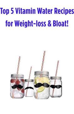 Top 5 Vitamin Water Recipes to De-Bloat!