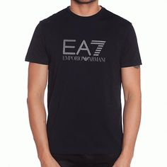639023f0 Ea7 Emporio Armani Men's Sea World Core Logo V-neck T-shirt Black Vee Tee    eBay