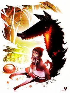 Anime Goth Red Riding Hood   Red Riding Hood and Love-struck Wolf by ~UnkaiTenshi on deviantART