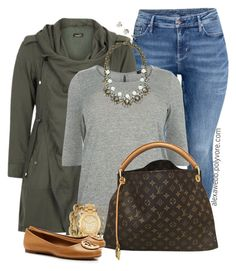 """Plus Size - Fall Casual Outfit"" by alexawebb ❤ liked on Polyvore featuring H&M, BaubleBar, J.Crew, Louis Vuitton, Melinda Maria, Michael Kors, Tory Burch and Kate Spade"
