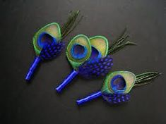 Perfect for a classy blue wedding and saving on boutonnieres,