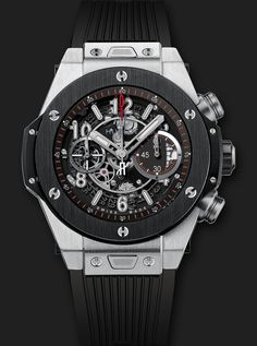 Details and features of 0 Chronograph, Swiss luxury watch by Hublot. Find out where to buy and prices of Hublot Classic Fusion watches. Swiss Luxury Watches, Swiss Army Watches, Luxury Watches For Men, Stylish Watches, Hublot Watches, Men's Watches, Nice Watches, Dream Watches, Cold Steel