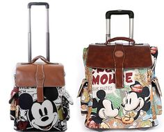 Disney Mickey Minnie Mouse Travel Handbag Luggage Bag Trolley Roller 17 034 19 034 20 034 | eBay
