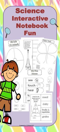 Read More About Students will have fun putting together this science interactive notebook. It has a large variety of science topics that are perfect for young students. Science Topics, Science Worksheets, Science Lessons, Science Activities, Science Ideas, Science Experiments, Science Resources, First Grade Science, Kindergarten Science