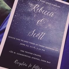 Printable Wedding Invitation Blue Wedding Invitation Night Sky Wedding Invitation Navy Blue Wedding Invite Starry Night Invitation