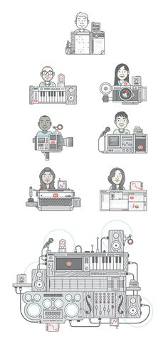 Creative Illustration, Dbx, Machines, and Animation image ideas & inspiration on Designspiration Line Illustration, Business Illustration, Character Illustration, Digital Illustration, Line Design, Book Design, Simple Line Drawings, Graphic Design Inspiration, Design Ideas