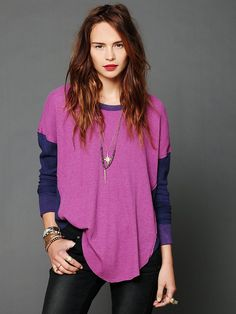 Free People We The Free Thriller Colorblock Thermal, $29.95
