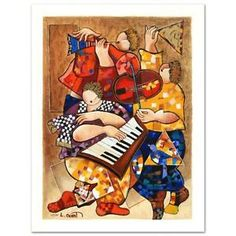 """""""Ensemble"""" Limited Edition Serigraph by Dorit Levi, Numbered and Hand Signed NEW"""