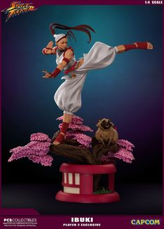 "Photos and details have been released for the assortment of new Street Fighter Ibuki 1/4 Scale Ultra Statue Series coming from Pop Culture Shock Collectibles. There will be three editions of the Ibuki statue available. Included is the standard retail edition and two PCS Exclusive editions. The standard release has no interchangeable parts, while PCS will have a deluxe version, with a second portrait and additional parts. they will also have that same version available in the ""Player 2"" c..."