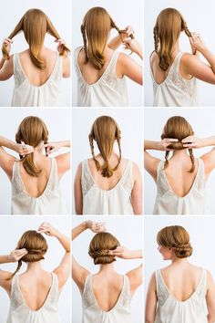 waterfall crown braid