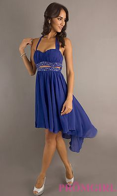 High Low Halter Dress for Prom at PromGirl.com $39.99