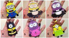 Minions! #artesanato #chaveiro #feltro #minions