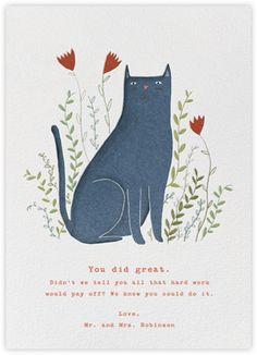 Blue Cat (Lizzie Stewart) - Paperless Post