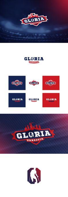 Gloria Varsovia logo on Behance Ci Design, Branding Design, Logo Design, Graphic Design, Logan, Sports Logo, Team Logo, Behance, Game