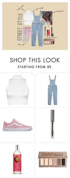 """street style"" by gabriellavanda on Polyvore featuring WearAll, Monki, Vans, BBrowBar, The Body Shop, Urban Decay and Stila"