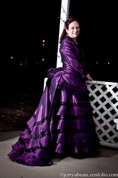 The Broke Costumer: My First Victorian Dress. 1872 Purple Early Bustle Gown.