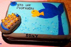 Tort w kształcie Tv: Rybka  (TV cake)