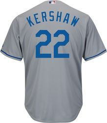 Clayton Kershaw Jersey - LA Dodgers Replica Adult Road Jersey