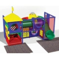 Indoor Playground Model Kid 400 from Dunrite Playgrounds http://www.dunriteplaygrounds.com/store