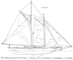 sail_plan_centre-board_schooner - Boat Design Net Gallery
