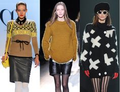 L-R: Charlotte Ronson, Theyskens' Theory, Betsey Johnson (this I really love!) - trending for fall 2012