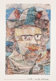 Klee The last of the mercenaries, 1931, Watercolor on paper,. Пауль Клее