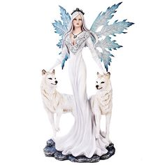 Winter Fairy with Snow Wolves