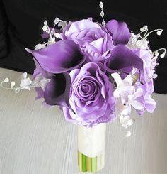 Bundle of Lavender Roses and Purple Callas Bouquet