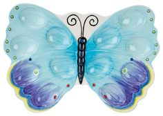 FITZ & FLOYD Courtyard Butterfly Egg Tray $17 AVAILABLE FROM BHR HOME: http://beachhippiehome.mybigcommerce.com/fitz-floyd-courtyard-butterfly-egg-tray-17/ INCLUDES NORTON SHOPPER PROTECTION & BEST PRICE GUARANTEE