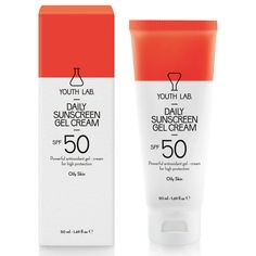 YOUTH LAB. Daily Sunscreen Gel Cream SPF 50 Oily Skin 50ml. Μάθετε περισσότερα ΕΔΩ: https://www.pharm24.gr/index.php?main_page=product_info&products_id=11814
