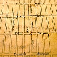 In 1811, John Randel Jr. plotted a visionary geometric street grid, showing the future locations of the major avenues and numbered cross streets, from 1st through 155th.