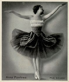 Anna Pavlova vintage ballet ballerina
